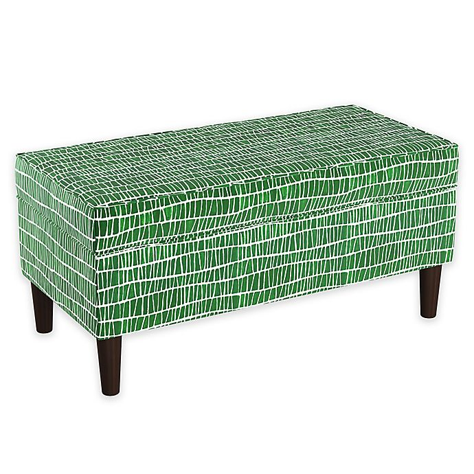Alternate image 1 for Cloth & Company Storage Bench in Objects Green