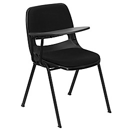 Flash Furniture 32-Inch Padded Chair with Right Flip-Up Tablet Arm in Black