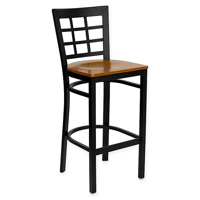 Flash Furniture Metal Bar Stool With Wood Seat Bed Bath