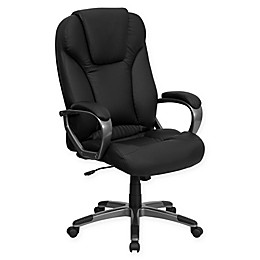Flash Furniture Bonded Leather Adjustable Office Chair in Black