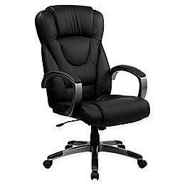 Flash Furniture Plush Office Chair in Black