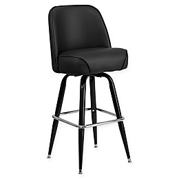 Flash Furniture Swivel Bucket Seat Stool in Black