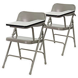 Flash Furniture 30-Inch Steel Folding Chairs with Left Handed Tablet Arms in Beige (Set of 2)