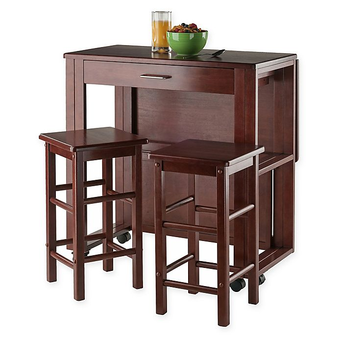Alternate image 1 for Winsome Trading 3-Piece Fremont Dining Set in Walnut