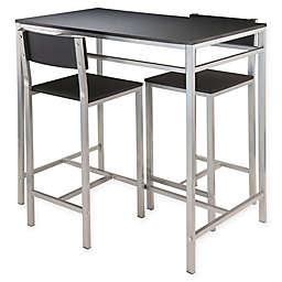 Winsome Hanley 3-Piece High Table Set in Black