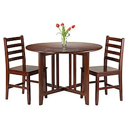 Winsome Trading 3-Piece Alamo Dining Set in Brown