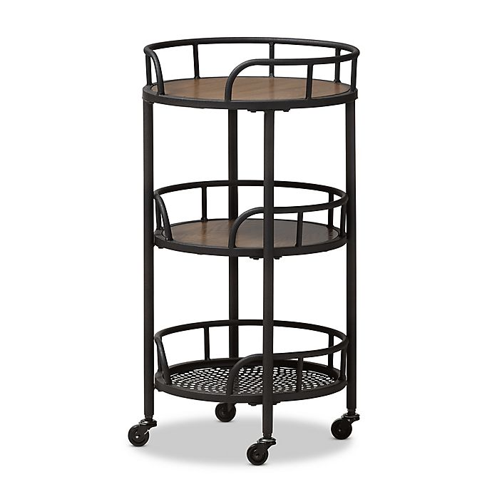 Baxton Studio Brown Industrial Kitchen Cart At Lowes Com: Buy Baxton Studio Bristol Rustic Metal And Wood Rolling