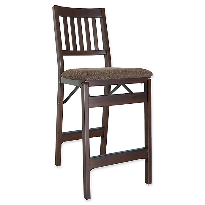 Stakmore Bonded Leather Folding Counter Stools With