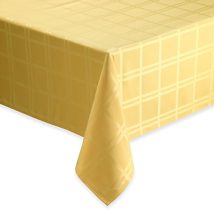 Alternate image 1 for Origins™ Microfiber 70-Inch Square Tablecloth in Yellow
