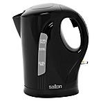 Salton 1-Liter Cordless Electric Stainless Steel Jug Kettle in Black