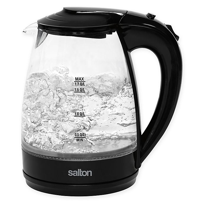 Alternate image 1 for Salton 1.7-Liter Cordless Electric Glass Kettle