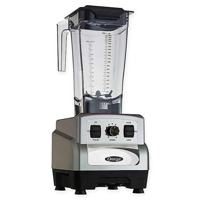 Alternate image 1 for Omega® OM6560S 3 Peak HP 11-Speed Blender with Pulse in Silver
