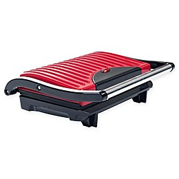 Chef Buddy Panini Press Indoor Nonstick Grill in Red