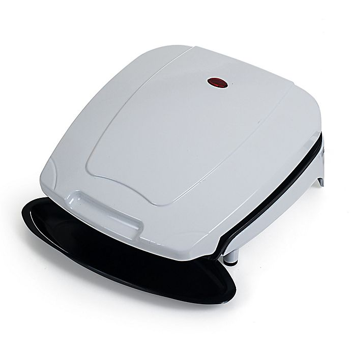 Alternate image 1 for Chef Buddy Electric Indoor Grill with Nonstick Plates in White