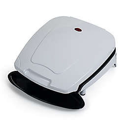 Chef Buddy Electric Indoor Grill with Nonstick Plates in White