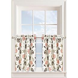 Seashore Window Curtain Tier Pair in Seafoam