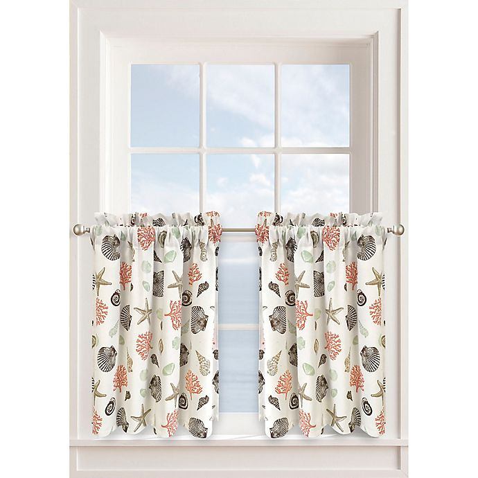 Alternate image 1 for Seashore 24-Inch Window Curtain Tier Pair in Seafoam