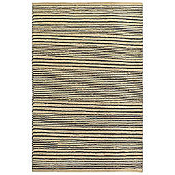 Fab Habitat Congaree Stripe Rug in Black/Natural