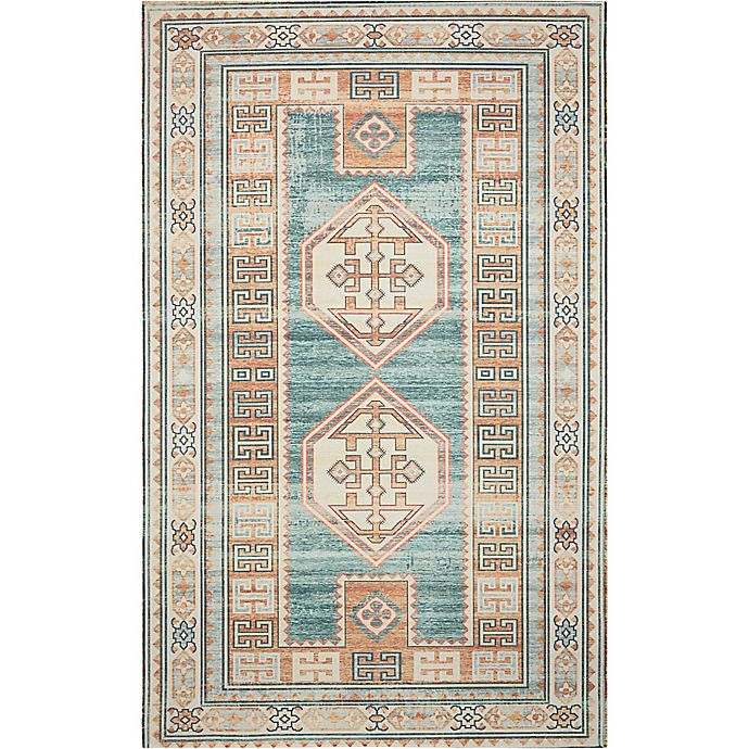 Buy Nourison Madera 5' X7' Machine Woven Area Rug In Teal
