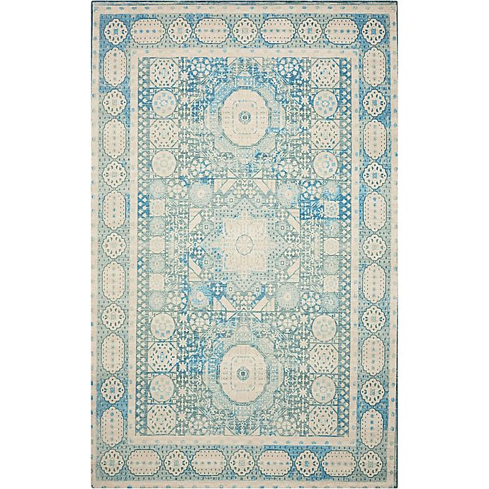 Nourison Madera Machine Woven Rug In Teal