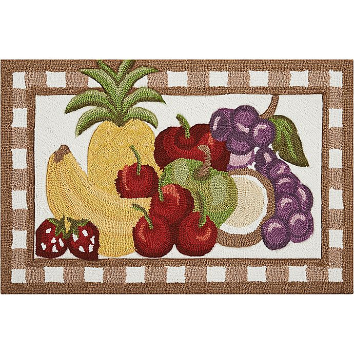Alternate image 1 for Nourison Everywhere Fruit 1-Foot 8-Inch x 2-Foot 6-Inch Accent Rug in Brown