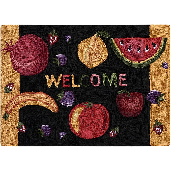 Alternate image 1 for Nourison Everywhere Welcome 1-Foot 8-Inch x 2-Foot 6-Inch Accent Rug in Black