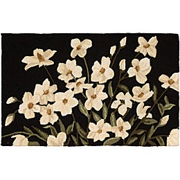 Nourison Everywhere Floral 1-Foot 8-Inch x 2-Foot 9-Inch Accent Rug in Black