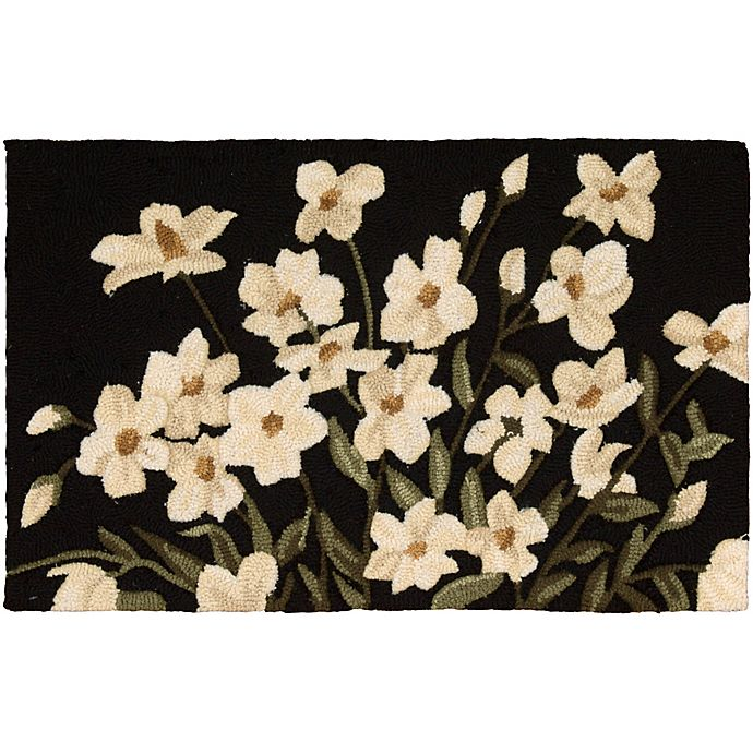 Alternate image 1 for Nourison Everywhere Floral 1-Foot 8-Inch x 2-Foot 9-Inch Accent Rug in Black