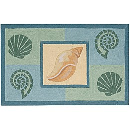 Nourison Everywhere Seashell 1-Foot 8-Inch x 2-Foot 9-Inch Accent Rug in Light Blue