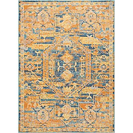 Nourison Abstract Rug in Teal