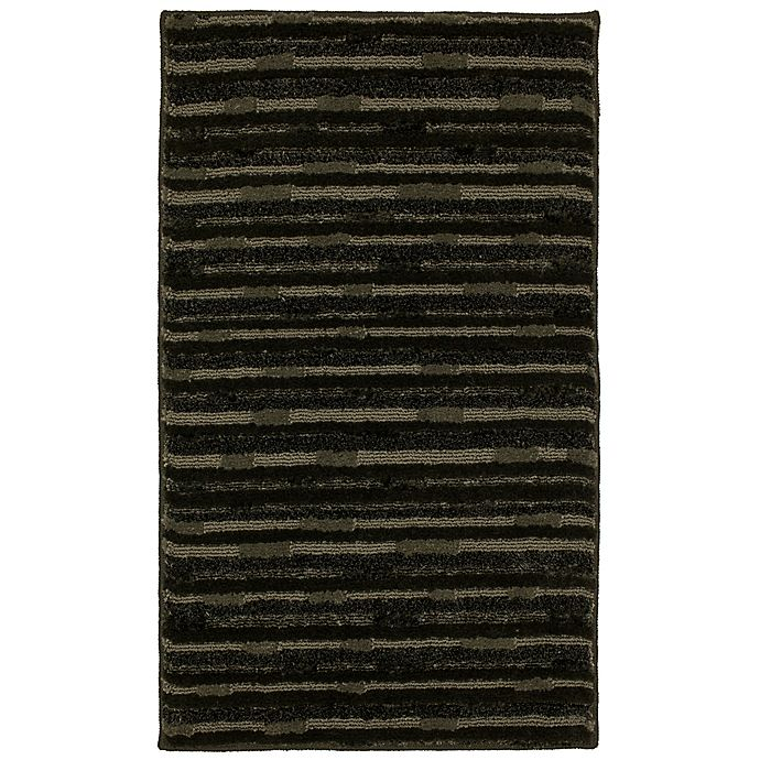 Alternate image 1 for Mohawk Home®  Farmhouse Shadow 2-Foot 5-Inch x 3-Foot 8-Inch Rug in Charcoal/Grey