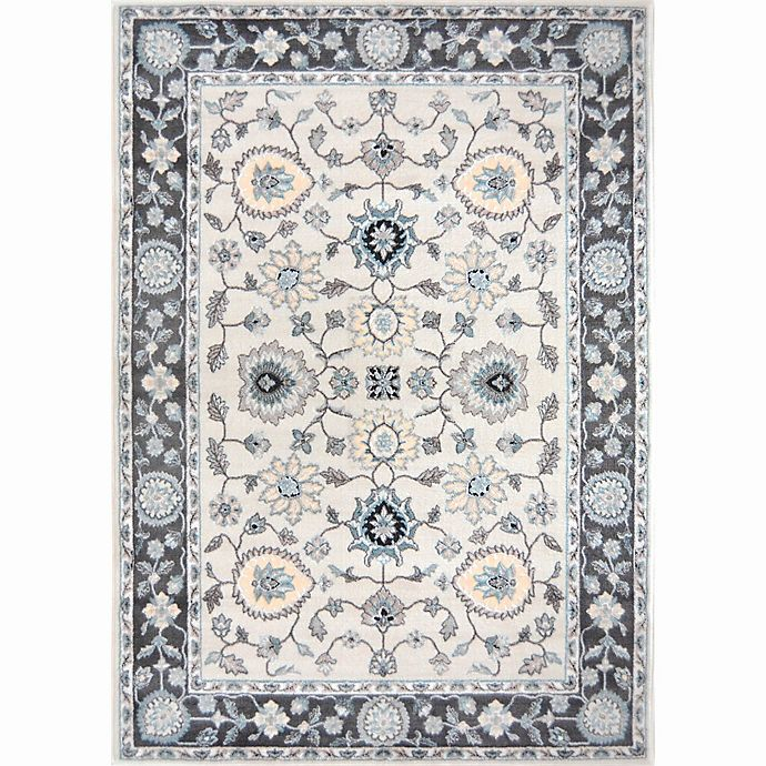 Alternate image 1 for Home Dynamix Oxford Border Area Rug in Grey