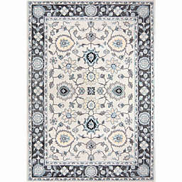Home Dynamix Oxford Border Area Rug in Grey