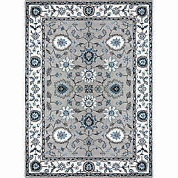 Home Dynamix Oxford Border Area Rug in Beige