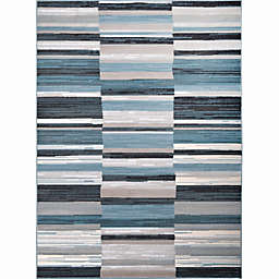 Home Dynamix Oxford Blocks Area Rug in Blue