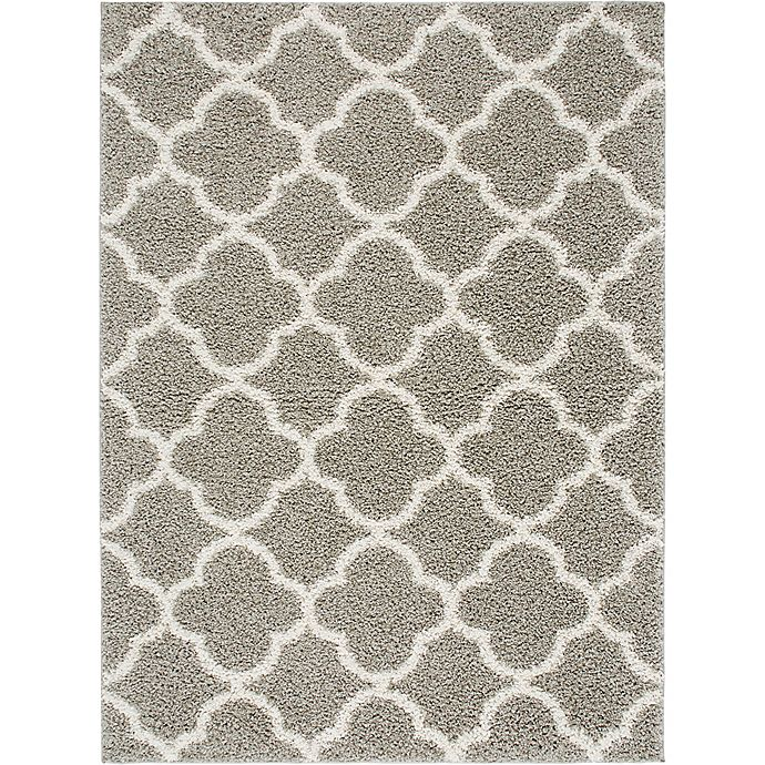 Alternate image 1 for Home Dynamix Synergy Trellis 7-Foot 9-Inch x 10-Foot 2-Inch Area Rug in Silver