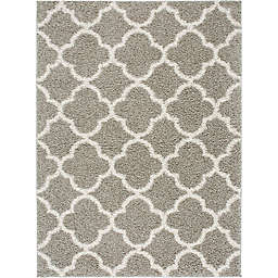 Home Dynamix Synergy Trellis 7-Foot 9-Inch x 10-Foot 2-Inch Area Rug in Silver