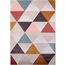 Home Dynamix Tribeca Geo Area Rug in Brown/Multi