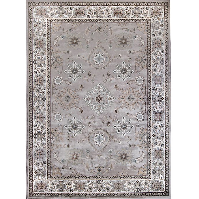 Alternate image 1 for Verona Border Area Rug in Ivory/Grey