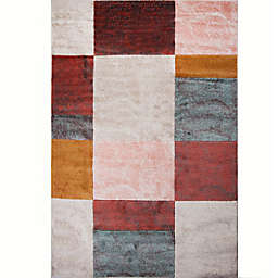 Home Dynamix Tribeca Blocks Area Rug in Brown/Multi