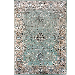 Verona Atlantis Area Rug in Light Blue/Tan