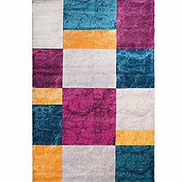 Home Dynamix Tribeca Blocks Area Rug in Purple/Multi