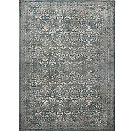 Verona Vintage Rug  in Distressed Grey/Blue
