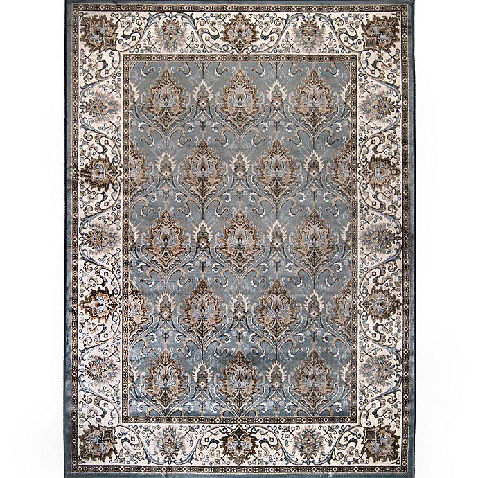 Alternate image 1 for Verona Traditional Border Rug in Blue/Ivory