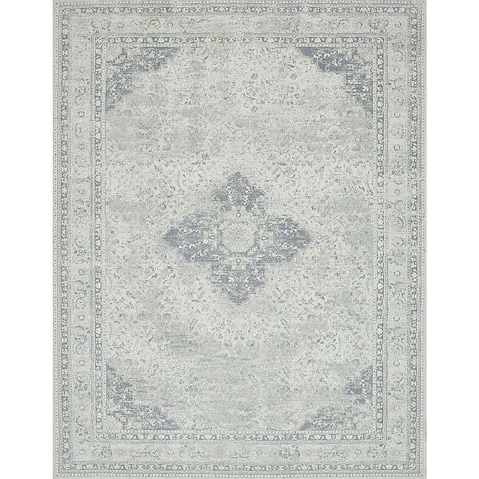 Alternate image 1 for Magnolia Home by Joanna Gaines Tristin Medallion 7-Foot 6-Inch x 9-Foot 6-Inch Area Rug in Ivory