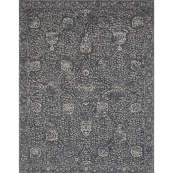Alternate image 1 for Magnolia Home by Joanna Gaines Tristin 2-Foot 6-Inch x 7-Foot 6-Inch Runner in Charcoal