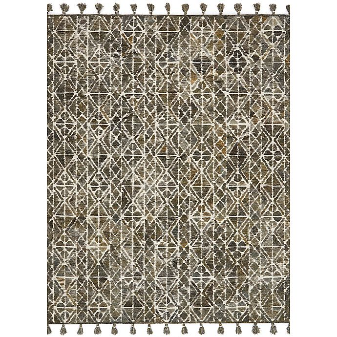 Alternate image 1 for Magnolia Home by Joanna Gaines Teresa 2-Foot 6-Inch x 7-Foot 6-Inch Runner in Ivory/Olive