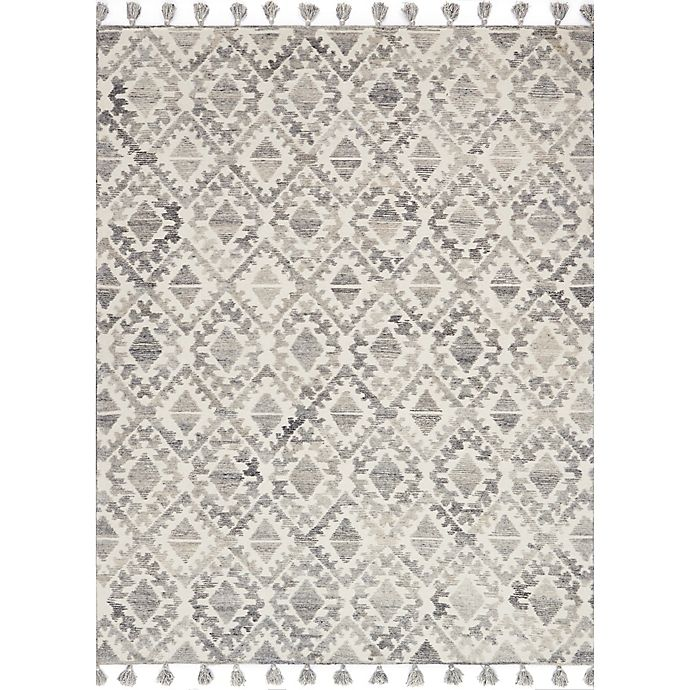 Alternate image 1 for Magnolia Home by Joanna Gaines Teresa 2-Foot 6-Inch x 7-Foot 6-Inch Runner in Ivory/Silver