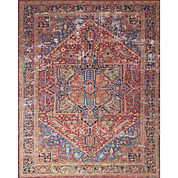 Magnolia Home by Joanna Gaines Lucca 7-Foot 6-Inch x 9-Foot 6-Inch Area Rug in Red/Blue