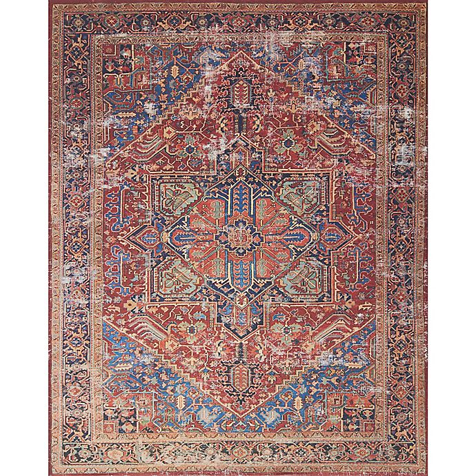 Alternate image 1 for Magnolia Home by Joanna Gaines Lucca 10-Foot  x 13-Foot Area Rug in Red/Blue